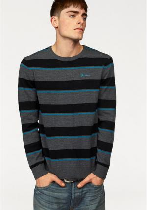 Пуловер JOHN DEVIN. Цвет: зеленый/темно-синий/белый, темно-серый меланжевый/черный, темно-синий/белый