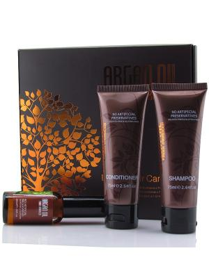 Дорожный набор для волос (шампунь 75мл, кондиционер масло арганы 30мл), Morocco Argan Oil. Цвет: белый