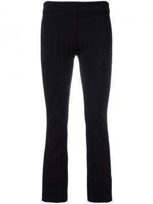 Укороченные брюки кроя слим Helmut Lang. Цвет: чёрный