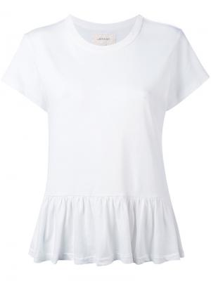 Peplum T-shirt The Great. Цвет: белый