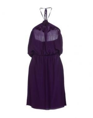 Платье до колена BEAYUKMUI. Цвет: фиолетовый