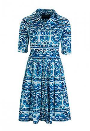 Платье SAMANTHA SUNG. Цвет: синий