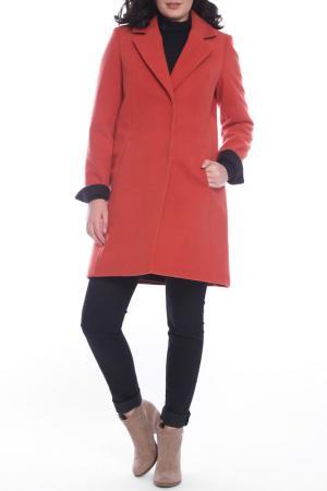 Пальто Emma Monti. Цвет: оранжевый