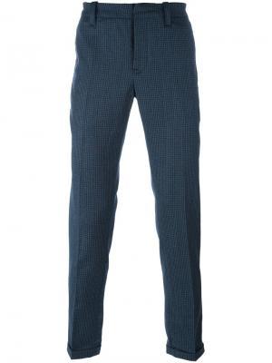 Зауженные книзу брюки Gaucho в клетку Dondup. Цвет: синий