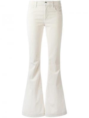 Расклешенные вельветовые брюки Mariel The Seafarer. Цвет: белый