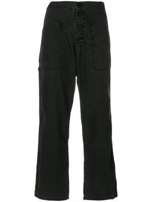 Укороченные брюки карго odora Rta. Цвет: чёрный