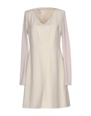 Короткое платье PINKO. Цвет: слоновая кость