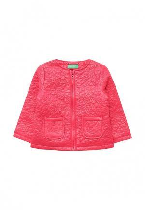 Ветровка United Colors of Benetton. Цвет: розовый
