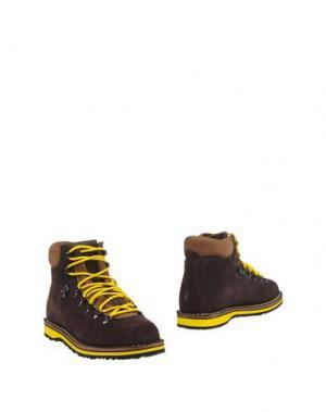 Полусапоги и высокие ботинки DIEMME. Цвет: темно-коричневый