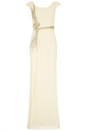 Платье Dynasty. Цвет: бежевый