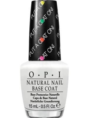 Opi Базовое покрытие для ярких оттенков лака Natural Nail Base Coat - Put a On!, 15 мл. Цвет: прозрачный