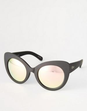 Quay Australia Солнцезащитные очки Screaming Diva. Цвет: черный