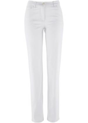 Прямые брюки стретч, низкий рост (K) (белый) bonprix. Цвет: белый
