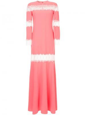 Платье с кружевными вставками Huishan Zhang. Цвет: розовый и фиолетовый