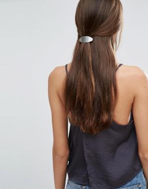 Orelia Заколка для волос овальной формы. Цвет: серебряный