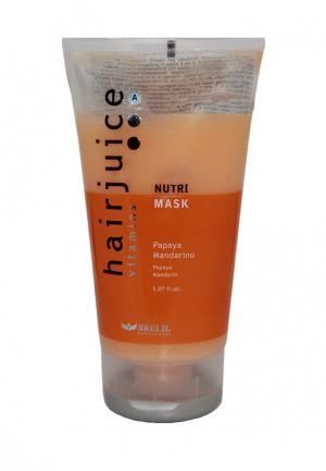 Маска питательная для окрашенных волос Brelil Professional. Цвет: оранжевый