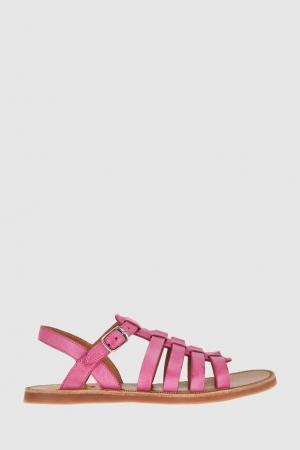 Кожаные сандалии Pom D'Api. Цвет: фуксия