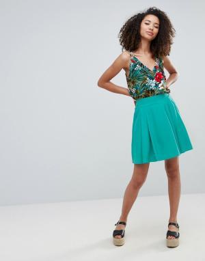 Louche Короткая расклешенная юбка Eden. Цвет: зеленый