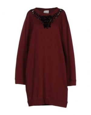 Короткое платье MARIUCCIA. Цвет: красно-коричневый