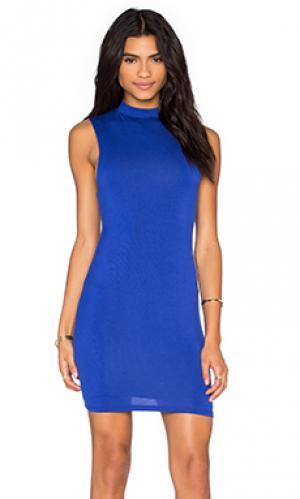 Платье миди BLQ BASIQ. Цвет: королевский синий