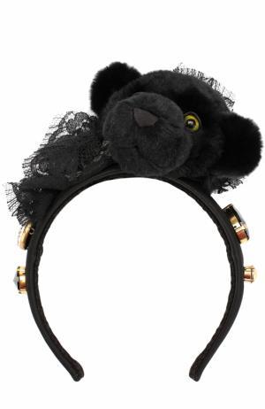 Ободок с декором Dolce & Gabbana. Цвет: черный