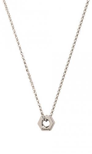 Ожерелье bare Miansai. Цвет: металлический серебряный