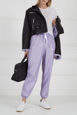 Кожаная куртка с яркой подкладкой Natasha Zinko. Цвет: черный