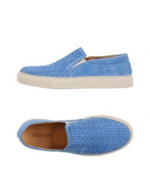 Низкие кеды и кроссовки SEBOY'S. Цвет: небесно-голубой