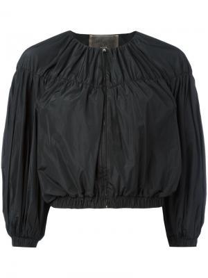 Укороченная куртка с объемными рукавами Giambattista Valli. Цвет: чёрный