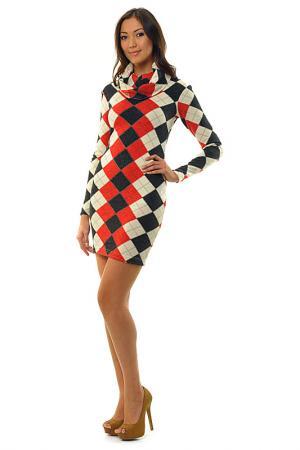 Платье с широким воротником Royal Box. Цвет: красный