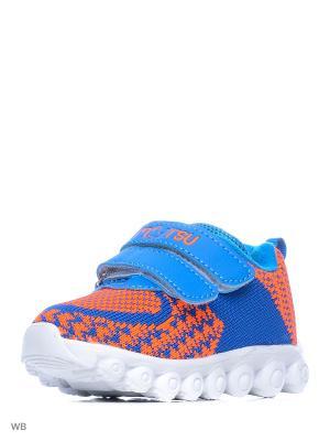 Кроссовки Mursu. Цвет: синий, оранжевый