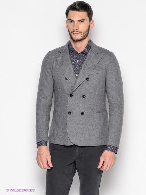Пиджак GUESS. Цвет: серый меланж