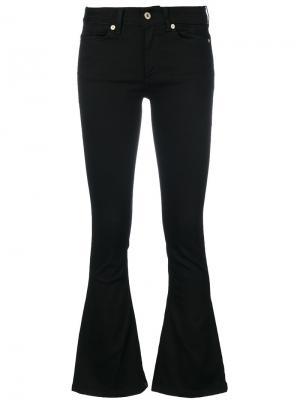Расклешенные брюки кроя слим Dondup. Цвет: чёрный