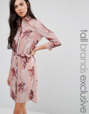 Alter Tall Платье-рубашка в пижамном стиле. Цвет: мульти