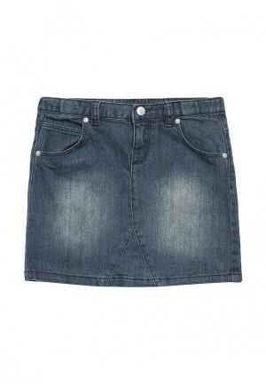 Юбка джинсовая Chicco. Цвет: синий