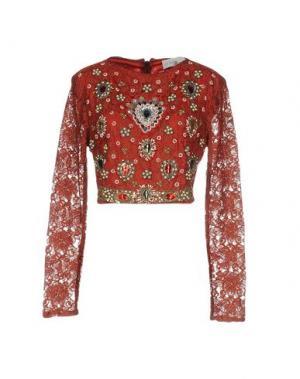 Блузка LA KORE. Цвет: красно-коричневый