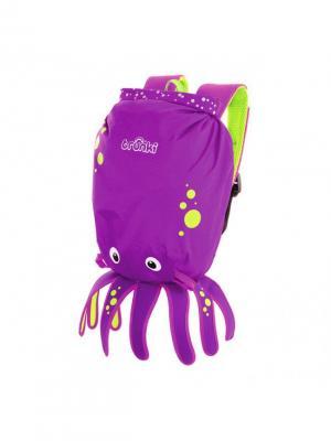 Рюкзак для бассейна и пляжа Осьминог TRUNKI. Цвет: темно-фиолетовый, салатовый