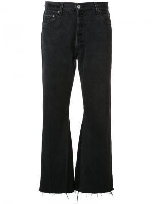 Укороченные расклешенные джинсы Re/Done. Цвет: чёрный