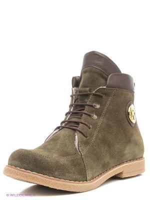 Ботинки Roccol. Цвет: зеленый