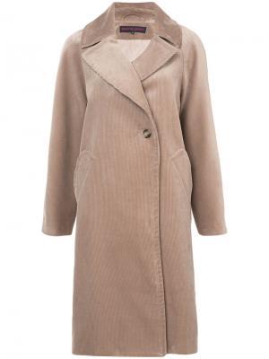 Удлиненное однобортное пальто Martin Grant. Цвет: телесный