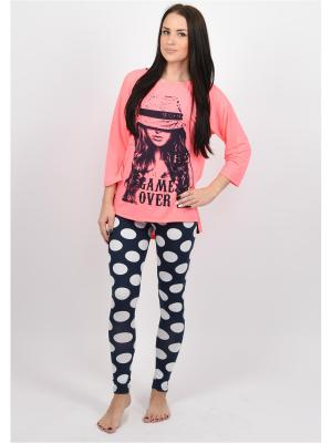 Пижама BON-AR. Цвет: бледно-розовый, бежевый