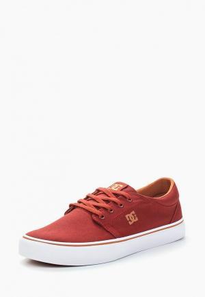 Кеды DC Shoes. Цвет: бордовый
