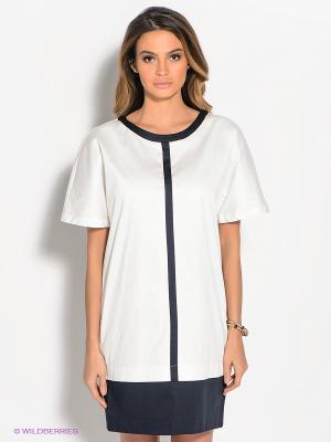Платье ZENDRA. Цвет: белый, темно-синий