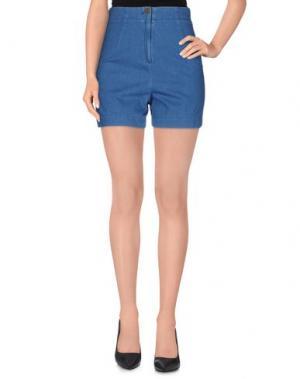 Джинсовые шорты SUPERFINE. Цвет: синий
