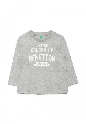 Лонгслив United Colors of Benetton. Цвет: серый