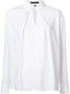 Блузка с воротником Walter Voulaz. Цвет: белый
