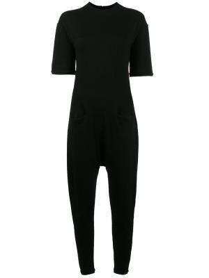 Drop crotch cashmere jumpsuit Beau Souci. Цвет: чёрный