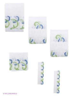 Комплект штор Wisan. Цвет: белый, синий, зеленый