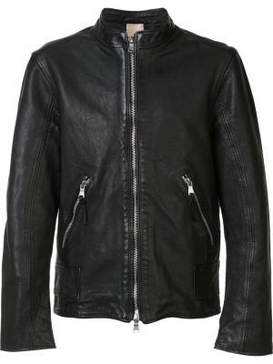 Байкерская куртка Baldwin. Цвет: чёрный