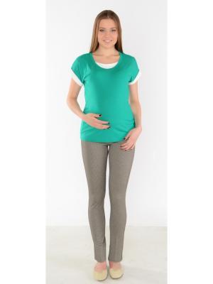 Брюки для беременных гусиная лапка Ням-Ням. Цвет: серо-коричневый
